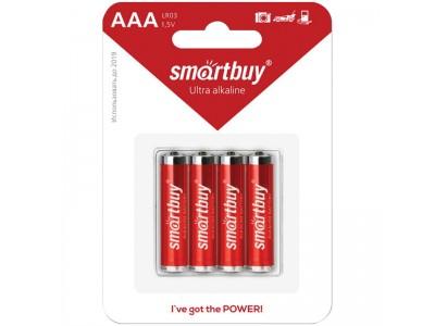 Батарейка SmartBuy AAA (LR03) BC4 SBBA-3A04B