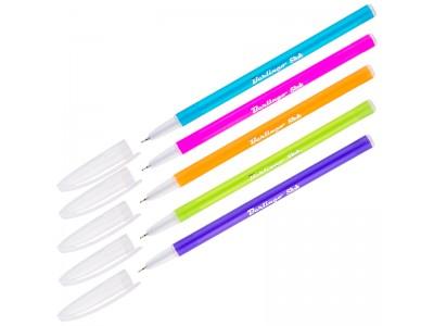 """Ручка шариковая Berlingo """"Slick"""" синяя, 0,7мм, игольчатый стержень, корпус ассорти CBp_07772"""