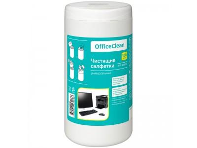 Туба с чист. салфетками OfficeClean универсальные, 100шт., арт. 248262