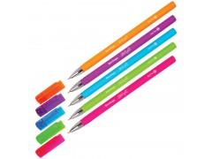 """Ручка шариковая Berlingo """"Starlight"""", синяя, 0,7мм, игольчатый стержень,прорезиненный корпус ассорти CBp_07250"""