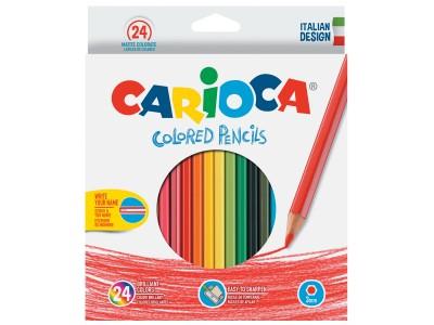 Набор карандашей цветных CARIOCA, 24 цв. 3мм в картонной коробке с европодвесом, арт. 40381