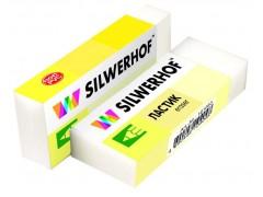 Ластик Silwerhof Blade 181083 40x19x10мм резина термопластичная белый