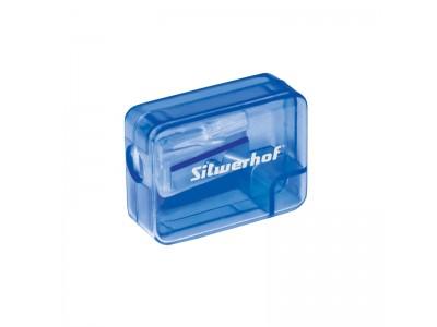 Точилка для карандашей ручная Silwerhof 191079 1 отверстие пластик черный/синий