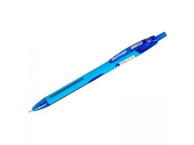 """Ручка шариковая автоматическая Berlingo """"Hyper"""" синяя, 1,0мм, прорез. корпус, арт.CBm_10900"""