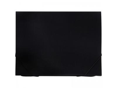 Папка 6 отделений OfficeSpace, A4, 500мкм, на резинке, черная, арт.ПНР6Ч_1001