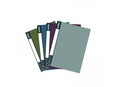 Папка с 10 файлами METALLIC, форзац, ф.A4, 0,6мм, ассорти, арт. IDB10/10/ASS_S