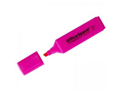 Текстовыделитель OfficeSpace, 1-5мм, арт. H_26, цвет розовый
