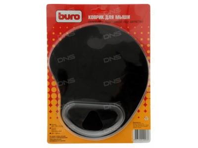 Коврик для мыши BURO, 225х190х2 мм, с гелевой подушкой, прилипающий, ассорти, арт. BU-GEL