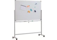 Доска магнитно-маркерная двусторонняя вращ-ся Classic Boards BMD129-E7, 120х90 см, мобильная на колесиках, арт. E71290 с дефектом