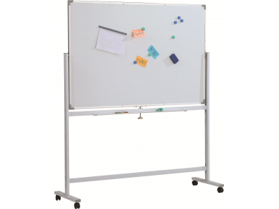 Доска магнитно-маркерная двусторонняя вращ-ся Classic Boards BMD1512-E7, 150х120 см, мобильная на колесиках, арт. E71512
