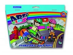 """Фломастеры """"Arti Kids"""" Granit FL24, 24 цв."""