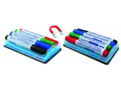 Набор маркеров для доски M46004M, с магнитной губкой, 4 цв., 2-3 мм, GRANIT