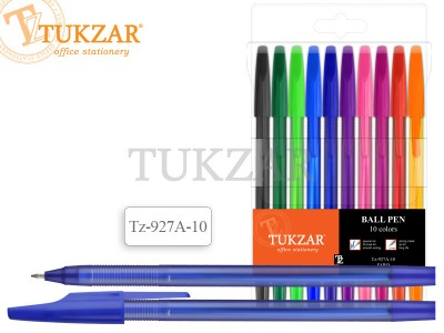 Набор шариковых ручек: матовый корпус, 10 цветов, арт. TZ 927 A-10