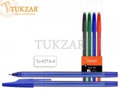 Набор шариковых ручек: матовый корпус, 4 цвета, арт. TZ 927 A-4