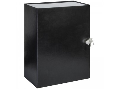 Короб архивный с завязками OfficeSpace разборный, БВ, 120мм, ассорти, клапан картон, арт.255991