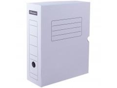 Короб архивный с клапаном, микрогофрокартон, 150мм, белый, арт. 219276