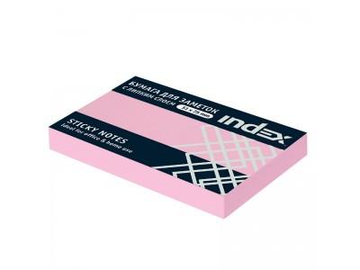 Бумага для заметок с липким слоем, разм. 51х75 мм, 100 л., цвет розовый