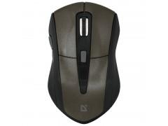 Мышь беспроводная Defender Accura MM-965, коричневый, 6btn+Roll 52968