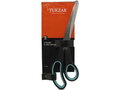 Ножницы: пластиковые ручки, резиновые вставки, европодвес, лезвие 25 см., арт. TZ 95