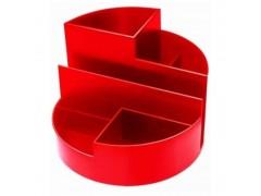 Подставка для канц. принадлежностей ПРОФИ, круглая, красный