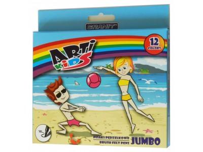 "Фломастеры-кисти ""Arti Kids Jumbo"" Granit M115, 12 цв."