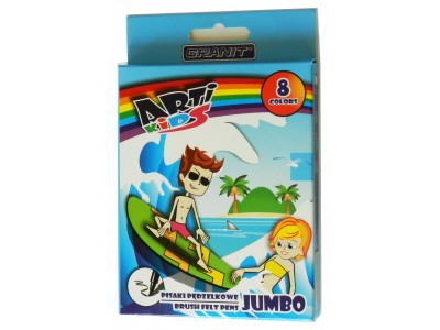 "Фломастеры-кисти ""Arti Kids Jumbo"" Granit M115, 8 цв."