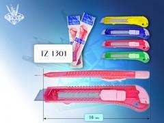 Канцелярский нож /18мм/, 4 цвета, арт. TZ 1301