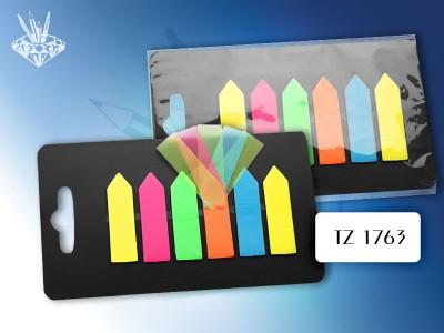 Набор стикеров-разделителей на пластиковой подложке, 6 шт., цвет АССОРТИ, /1,2*4,3 см./, арт. TZ1763