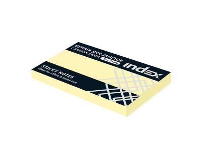 Бумага для заметок с липким слоем, разм. 127х75 мм, 100 л., цвета в ассортименте