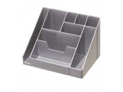 Подставка для канц. принадлежностей КАСКАД, арт. ОР16, серый металлик