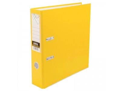 Папка-регистратор 80 мм, PVC, желтая, с металлической окантовкой, арт. IND 8/24 PVC NEW ЖЕЛ