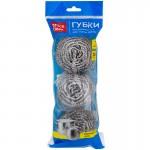 Губки для посуды металлические спиральные OfficeClean, р-р 6*5см., 3шт/уп., арт.265291