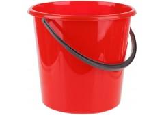 Ведро пластиковое OfficeClean пищевое, мерная шкала, цв.красный, 5л, арт. 299877