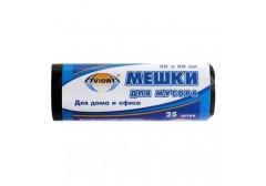 Мешки для мусора 30л AVIORA ПВД, р-р 50 х 60 см., 25шт. в рулоне, арт.106-017