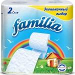 Бумага туалетная FAMILIA Радуга, двухслойная, 4рул/уп.