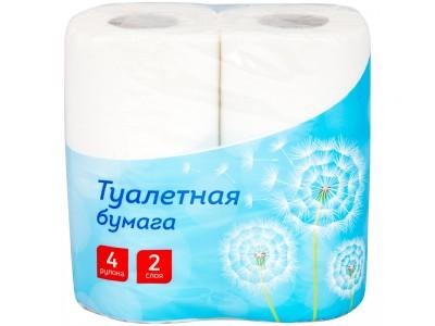 Бумага туалетная OfficeClean, двухслойная, 4 рул./уп.