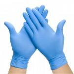 Перчатки нитриловые Nitrylex PF Protect нестерильные неопудренные тектурированные р-р L, 100 шт/уп.
