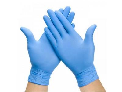 Перчатки нитриловые Nitrylex PF Protect нестерильные неопудренные тектурированные р-р XL, 100 шт/упак