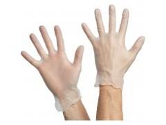 Перчатки одноразовые виниловые, р-р M, 100шт/уп