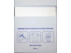 Покрытия одноразовые PATERRA на унитаз, 1/4 сложения, 100 шт. в упаковке, арт.104-019