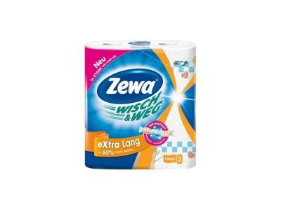 """Полотенца бумажные """"Zewa Wisch & Weg Extra lang"""" 2рул/уп."""