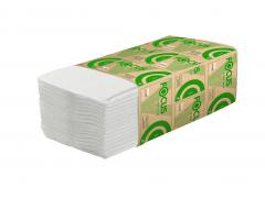 Полотенца бумажные влагопрочные, FOCUS ECO, 100% целлюлоза, V-сложения, р-р 23*20, 200лист/уп., арт.5049975