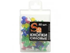 Набор кнопок силовых, прозрачные головки, 50 штук в пластиковой коробочке, арт. SPP02P