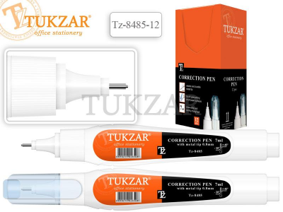 Корректирующая ручка TUKZAR, 7 мл., с металлическим наконечником, арт. TZ 8485-12