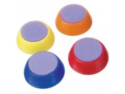 Увлажнитель для пальцев , круглый, ассорти 4 цв.