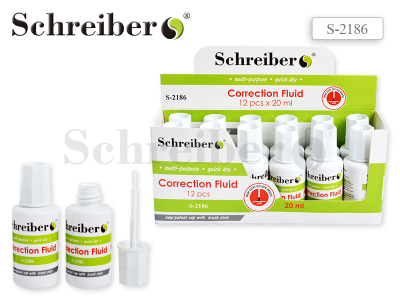 Корректирующая жидкость Schreiber, флакон 20 мл. NEW, арт. S 2186