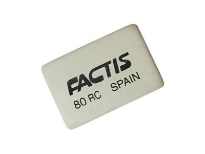 Ластик FACTIS мягкий из натурального каучука, размер 30х20х7,5 мм, арт. 80RC