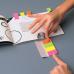 Закладки с клеевым краем, 20х50 мм, бумажные, 4 блока по 50л., 4-х цветные, арт. 003001500