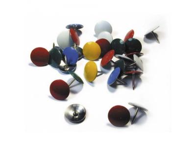 Кнопки канцелярские, 100шт., диаметр 10,5 мм, цветные, в карт. кор., арт. 066000800