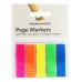 Закладки с клеевым краем Workmate, 12х45 мм, пластик, 5 блоков по 25л., 5-ти цветные